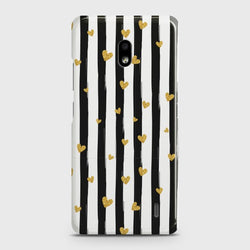 NOKIA 2.2 Glitter Heart Stripes Case