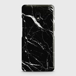NOKIA 2.2 Trendy Black Marble Case