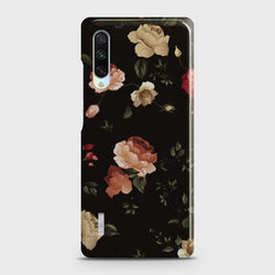XIAOMI MI A3 Dark Rose Vintage Flowers Case