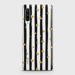 XIAOMI MI A3 Glitter Heart Stripes Case