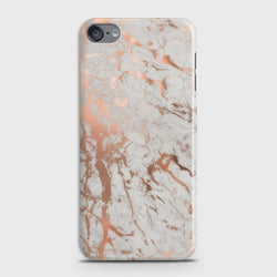 IPOD TOUCH 7 Chic Rose Gold Chrome Style Print Case