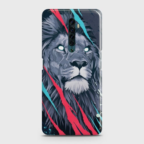 OPPO RENO 2 Abstract Animated Lion Case