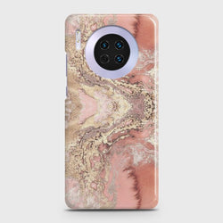 Huawei Mate 30 Trendy Chic Rose Gold Marble Case