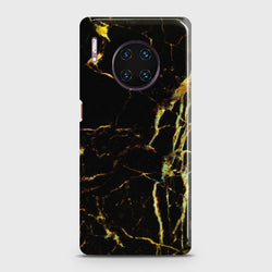 Huawei Mate 30 Pro Black Gold Veins Marble Case
