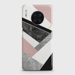 Huawei Mate 30 Pro Geometric Luxe Marble Case