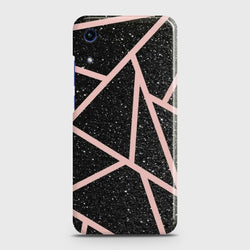HUAWEI HONOR 8A Black RoseGold Lines Case