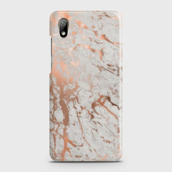 HUAWEI Y5 2019 Chic Rose Gold Chrome Style Print Case