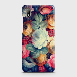 HUAWEI Y5 2019 Vintage Colorful Flowers Case