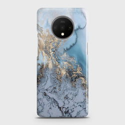 ONEPLUS 7T Golden Blue Marble Case