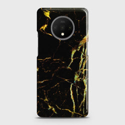 ONEPLUS 7T Black Gold Veins Marble Case