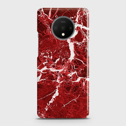 ONEPLUS 7T Deep Red Marble Case
