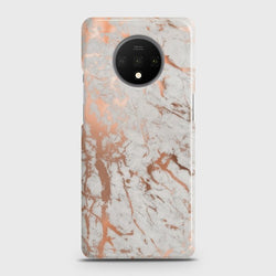 ONEPLUS 7T Chic Rose Gold Chrome Style Print Case