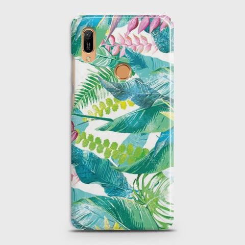 HUAWEI HONOR 8A PRO Retro Palm Leaves Case