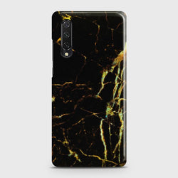 HUAWEI Y9s Black Gold Veins Marble Case