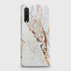 HUAWEI Y9s White & Gold Marble Case