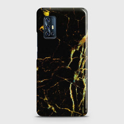 VIVO V17 Black Gold Veins Marble Case