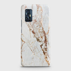 VIVO V17 White & Gold Marble Case