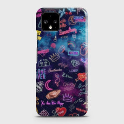 Google Pixel 4 XL Neon Galaxy Case