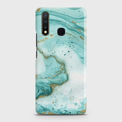 VIVO Y19 Aqua Blue Marble Case