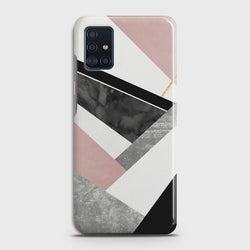 SAMSUNG GALAXY A51 Geometric Luxe Marble Case