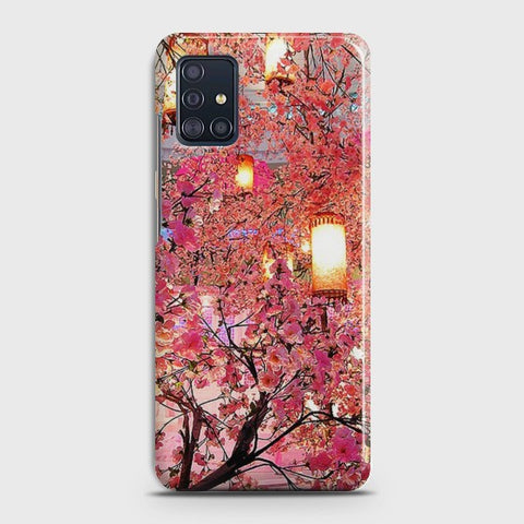 SAMSUNG GALAXY A71 Pink blossoms Lanterns Case