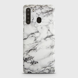 SAMSUNG GALAXY A21 Trendy White Marble Case