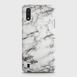 Samsung Galaxy A01 Trendy White Marble Case