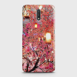 Nokia 2.3 Pink blossoms Lanterns Case