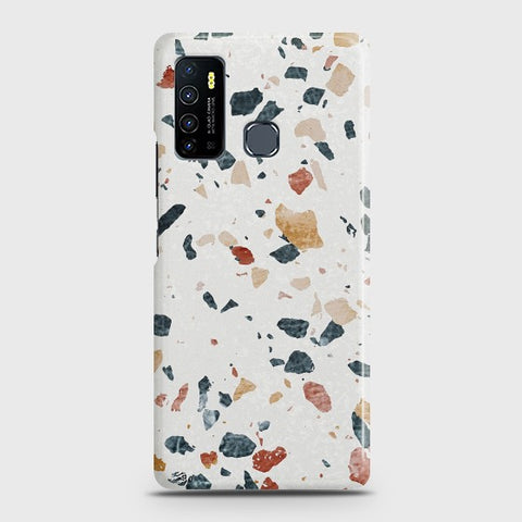 Infinix Hot 9 Stone Marble White Case