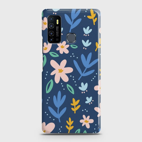 Infinix Hot 9 Colorful Flowers Case