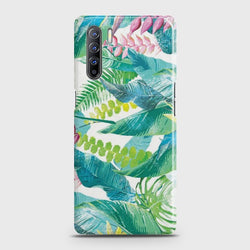Oppo F15 Retro Palm Leaves Case