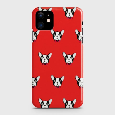 iPhone 12 BOSTON TERRIER RED Case