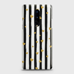 OnePlus 8 Glitter Heart Stripes Case