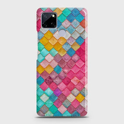 Realme C12 Colorful Mermaid Scales Case