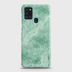 Samsung Galaxy A21s Mint Green Marble Case