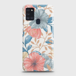 Samsung Galaxy A21s Seamless Flower Case