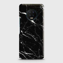 Infinix Note 7 Trendy Black Marble Case