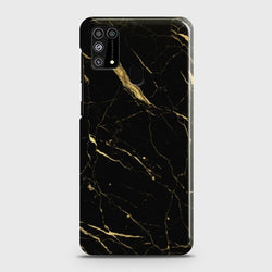 Samsung Galaxy M31 Classic Golden Black Marble Case