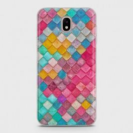 SAMSUNG GALAXY J5 PRO 2017 Colorful Mermaid Scales Case