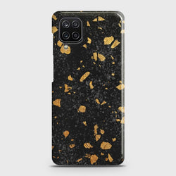 Galaxy A12 Stone Marble Black Case