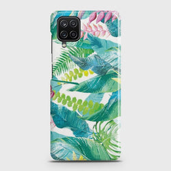 Galaxy A12 Retro Palm Leaves Case