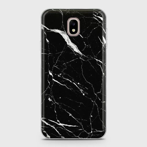 Samsung Galaxy J7 Pro Trendy Black Marble design Case