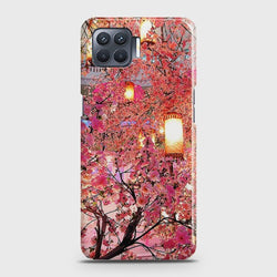 OPPO A73 Pink blossoms Lanterns Case