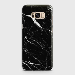 Samsung Galaxy S8 Trendy Black Marble design Case