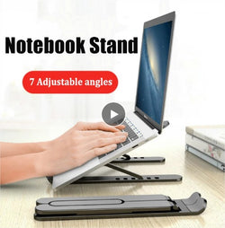 Adjustable Foldable Laptop Stand Non-slip Desktop Holder Best for MacBook, Notebook, Laptop, iPad all sizes