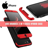 GKK BRANDED 3 IN 1 CASES HYBRID CASE for All iPhone - Phonecase.PK