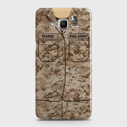Samsung Galaxy Grand Prime Plus Army shirt with Custom Name Case