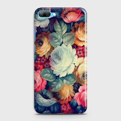 Huawei Honor 10 Vintage colorful Flowers Phone Case - Phonecase.PK