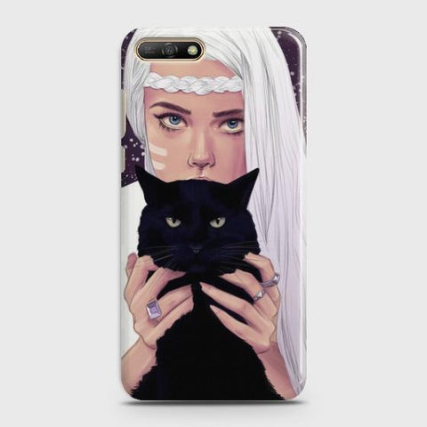 Huawei Honor 7A Wild Black Cat Phone Case