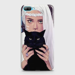 Huawei Honor 10 Wild Black Cat Phone Case
